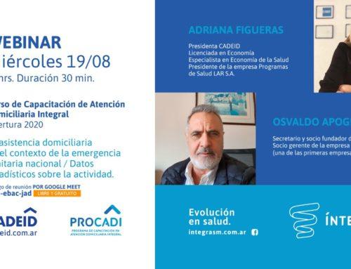 WEBINAR: LA INTERNACIÓN DOMICILIARIA EN ARGENTINA. EVOLUCIÓN Y PERSPECTIVAS.